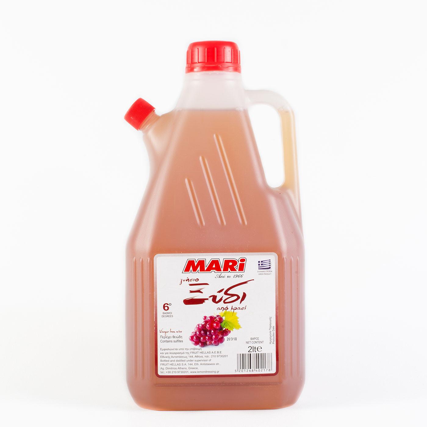 """Γνήσιο Ξύδι από Κρασί """"MARI"""" 2 lt."""