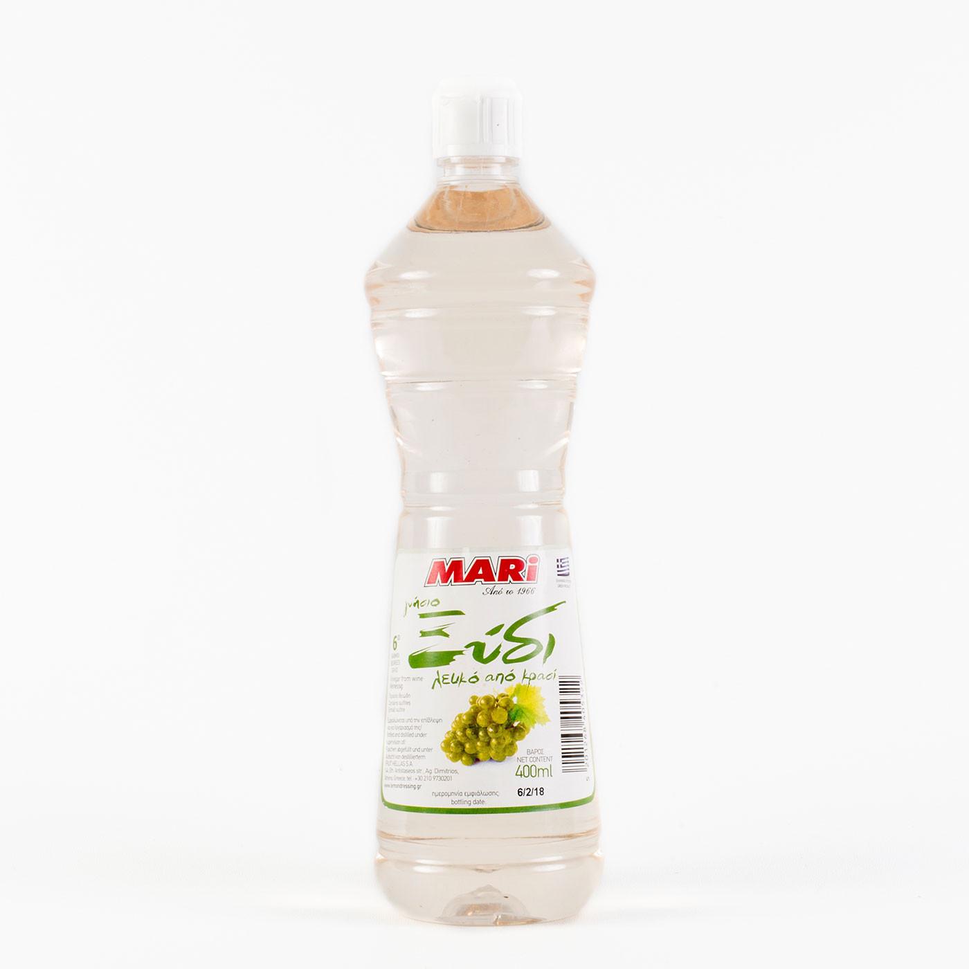 """Γνήσιο Ξύδι  Λευκό από Κρασί """"MARI"""" 400 ml."""