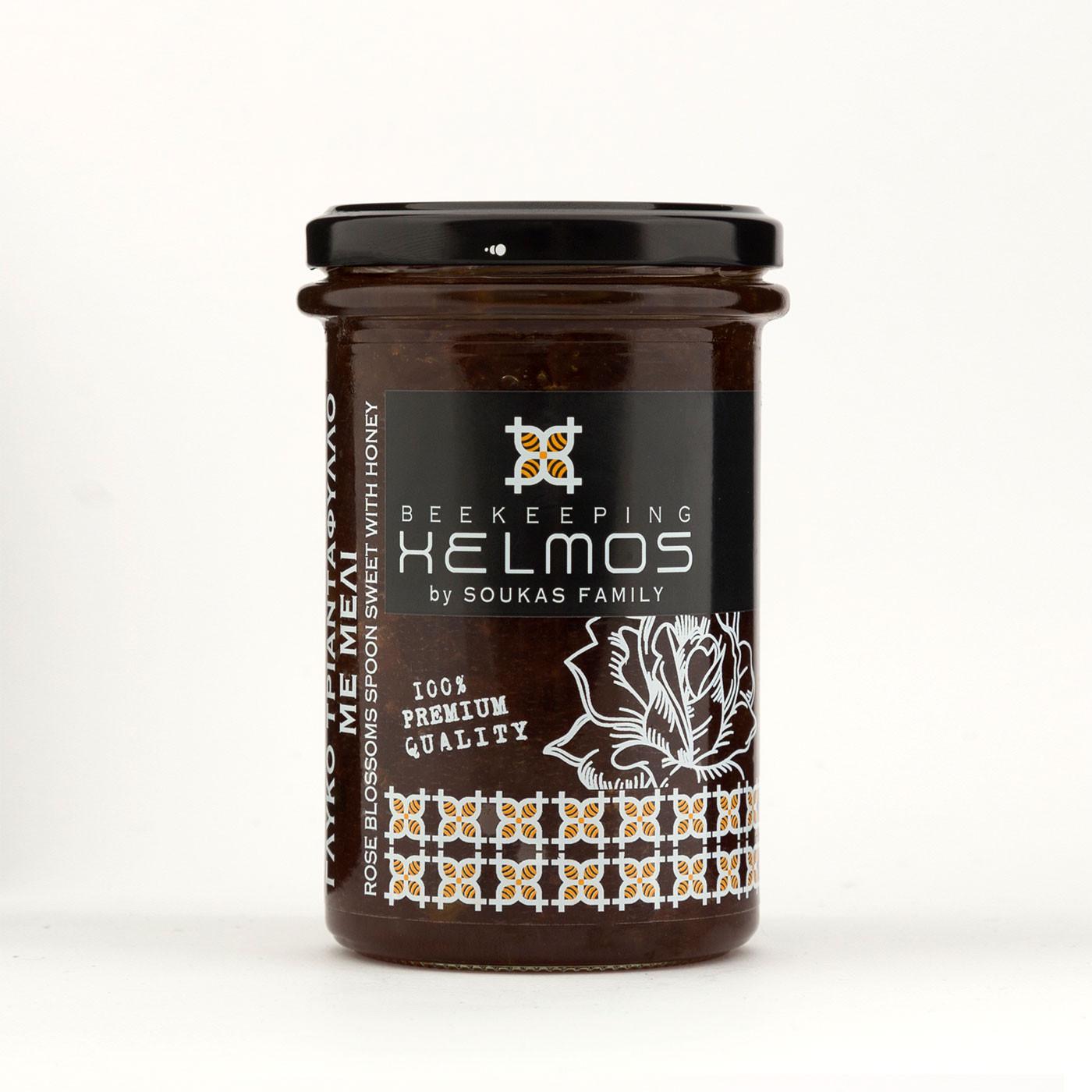 """Γλυκό Τριαντάφυλλο με Μέλι """"Helmos"""" 380 gr"""