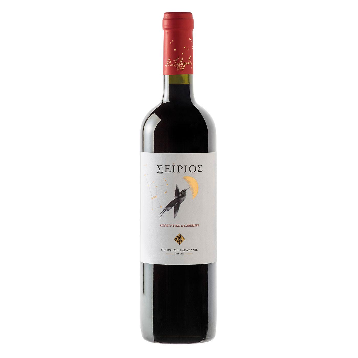 """""""Σείριος"""" Αγιωργίτικο & Cabernet, Ερυθρός Οίνος """"Γ. Λαφαζάνης"""" 750 ml."""
